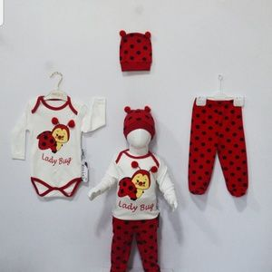 Other - Onsie bodysuits 3 PC set lady bug 6-9month